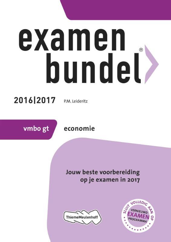 Examenbundel 2016-2017 vmbo-gt economie