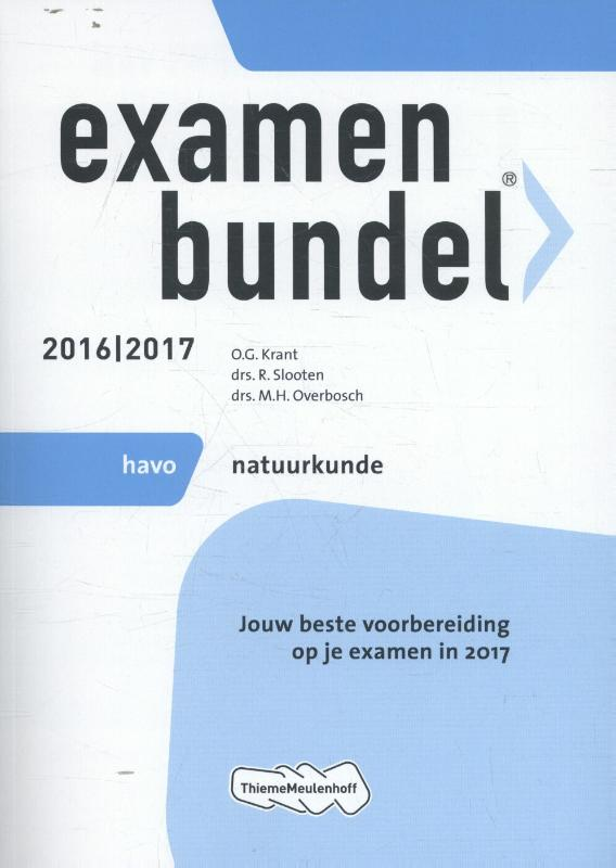 Examenbundel 2016-2017 havo natuurkunde