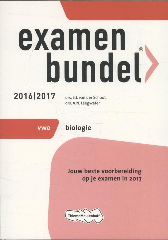 Examenbundel 2016-2017 vwo biologie