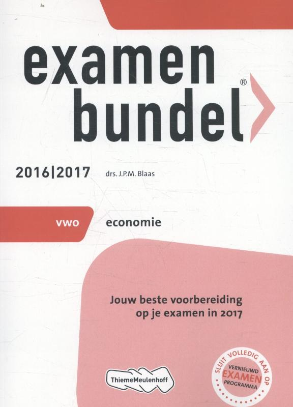 Examenbundel 2016-2017 vwo economie