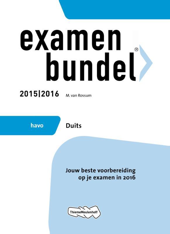 Examenbundel Havo Duits 2015