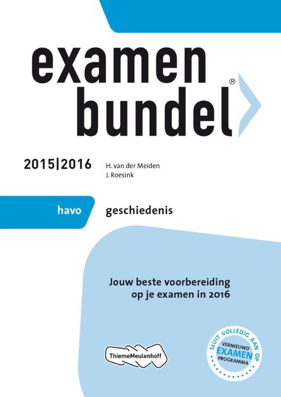Examenbundel Havo; Geschiedenis; 2015