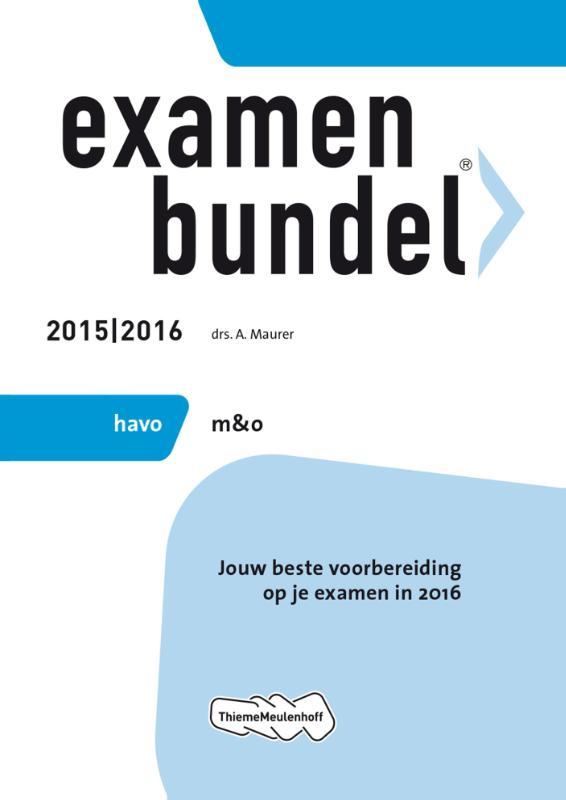 Examenbundel Havo; M&o; 2015