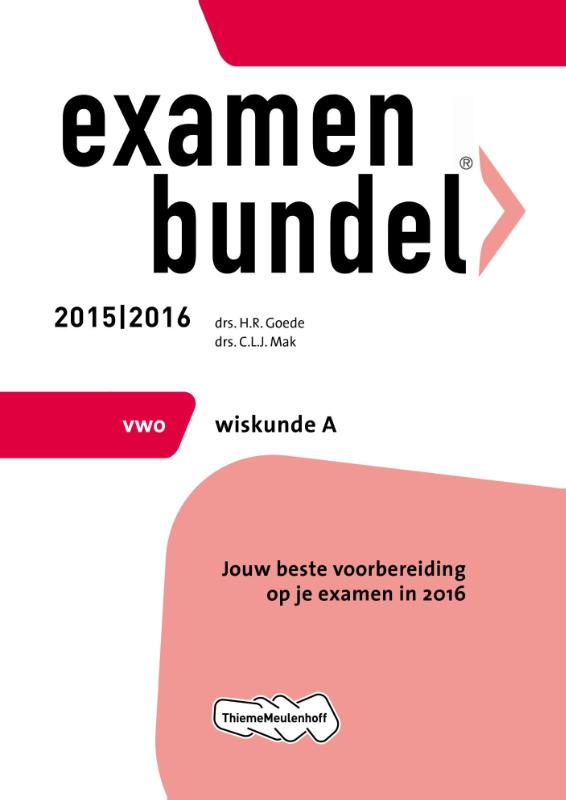 Examenbundel Vwo; Wiskunde A; 2015