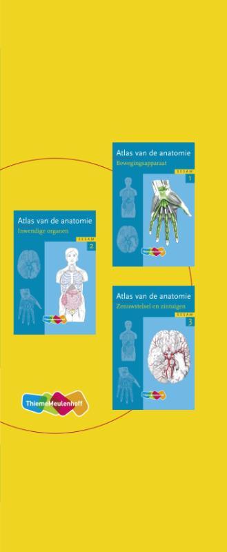 Atlas vd anatomie delen 1,2,3 in cassette