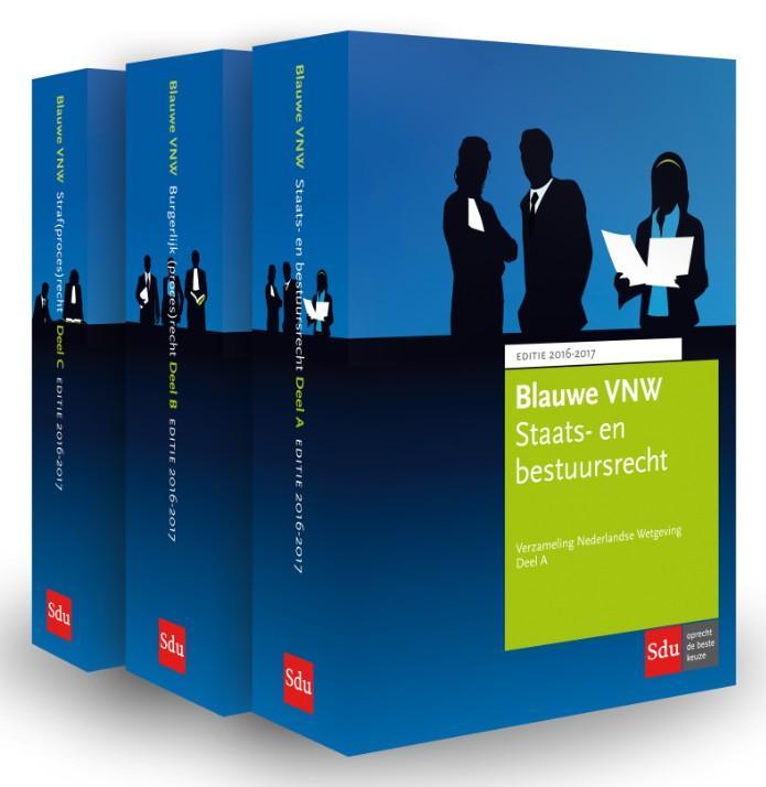 Blauwe VNW 2016-2017 Verzameling Nederlandse Wetgeving