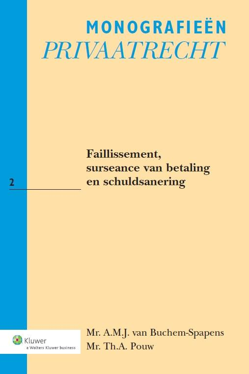 Faillissement, surseance van betaling en schuldsanering