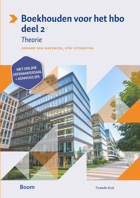 Boekhouden voor het hbo Deel 2 Theorieboek